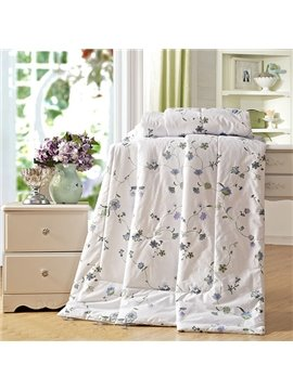 Fresh Little Flowers Printed Air-Conditional Cotton Quilt