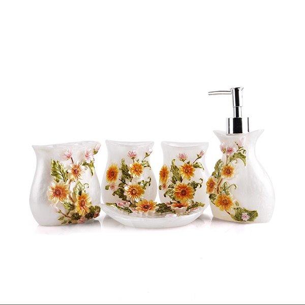 Sunflower bathroom accessories sunflower bathroom decor bclskeystrokes blonder bath