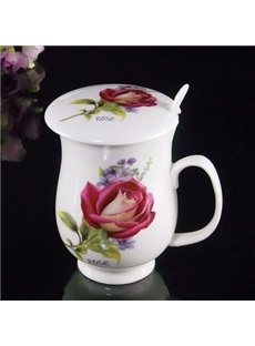 Fantastic Ceramic Romantic Roses Coffee Mug