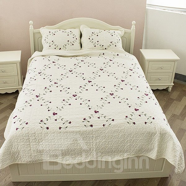 New Arrival Simple and Fresh Flowers Printed Bed in a Bag Set