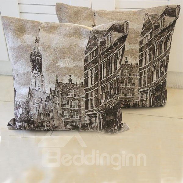 Classical Modern Society Printed One PieceThrow Pillow
