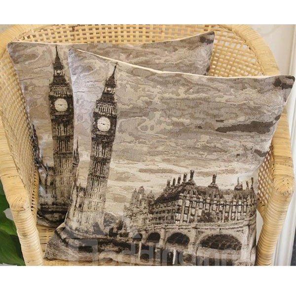 The Big Ben Printed European Style One Piece Throw Pillow