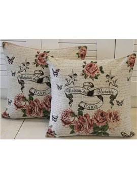 The Flying Angel and Flowers Printed One Piece Throw Pillow