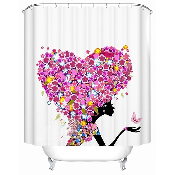 Stylish Romantic Flower Heart Shape Beautiful Girl Shower