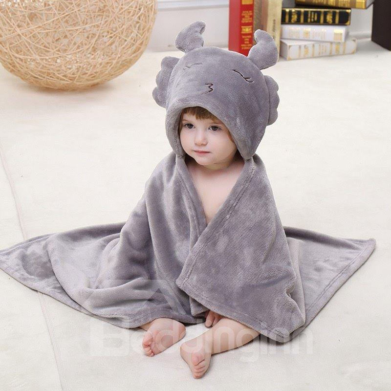 Gray Scorpio Style Soft Flannel Blanket Cape Blanket