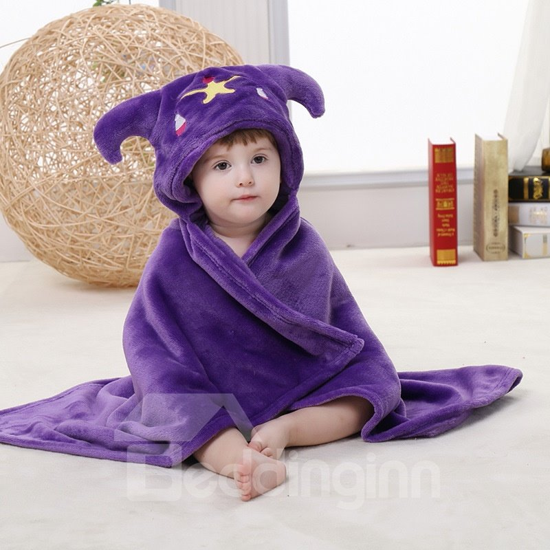 Purple Libra Style Soft Flannel Blanket Cape Blanket