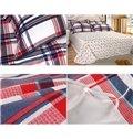 Plaid Pattern 3-Piece 100% Cotton Duvet Cover Sets
