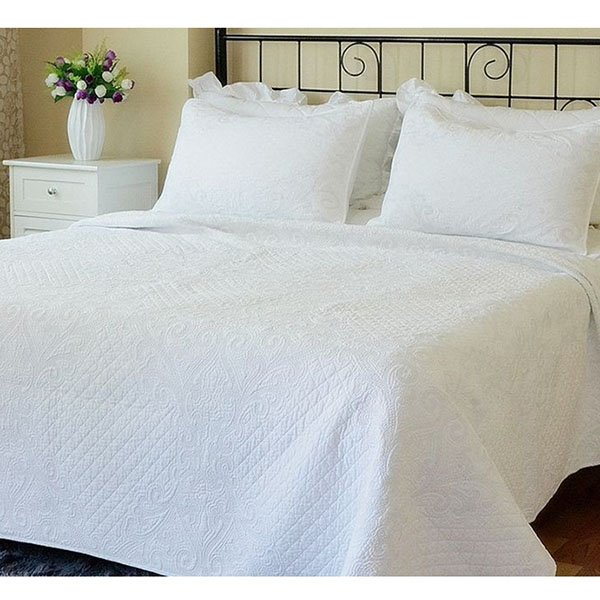 High Quality Pure White Cotton Bed in a Bag Set