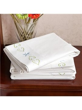 New Arrival High Quality Pure White 100% Cotton Printed Sheet