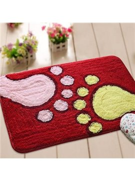 Top Selling Red Rectangular Non-Slip Doormat
