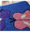 Top Quality Beautiful Blue Butterfly Non-Slip Doormat