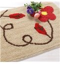 Classic Fibers Coffee Safflower Non-Slip Doormat