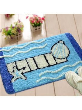 Popular Polyester Fiber and Acrylic Fibers Blue Shell Doormat