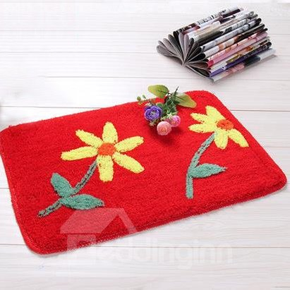 Top Quality Pretty Sun Flower Non-Slip Doormat