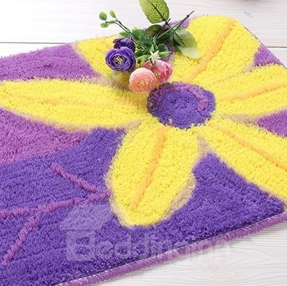 Top Quality Purple and Yellow Flower Doormat