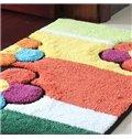 Wonderful Rectangular Colored Flowers Non-Slip Doormat
