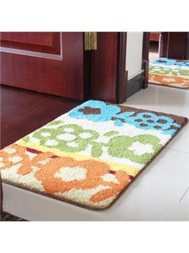 Pretty Orange Green Blue Three Colors Doormat