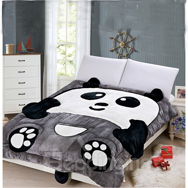 Very Cute Warm Keeping Panda Shape Quilt