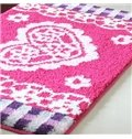 Top Quality Classic Heart Pattern Non-Slip Doormat