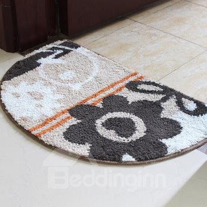 Classic European Style Semicircle Non-Slip Doormat
