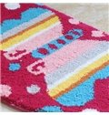 Pretty Colorful Butterfly Semicircle Non-Slip Doormat