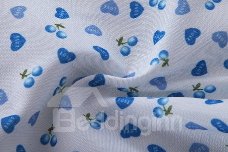 Korean Style Cute Hearts Design Grommet Top Curtain