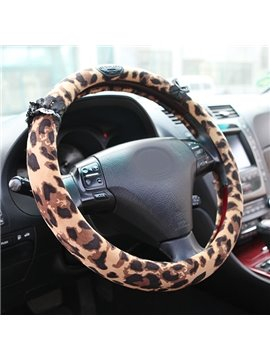 New Arrival Fantastic Leopard Printed Steering Wheel Cover