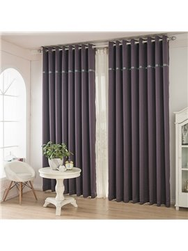 Deep Purple Color Thickening Blackout Grommet Top Curtain
