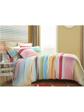 Rainbow Print 4-Piece Tencel Duvet Cover Sets