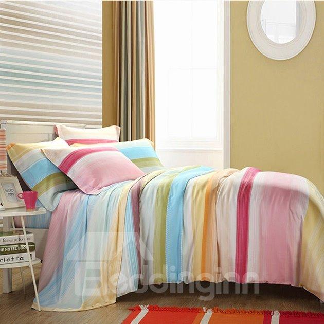 Rainbow Print 4-Piece Tencel Duvet Cover Sets