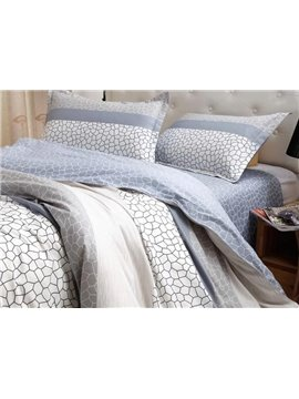 Water Cube 4-Piece Cotton Duvet Cover Sets