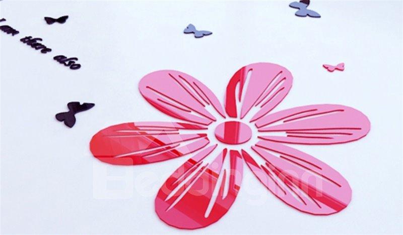 Pretty Plum Blossom Crystal Acrylic 3D Wall Stickers