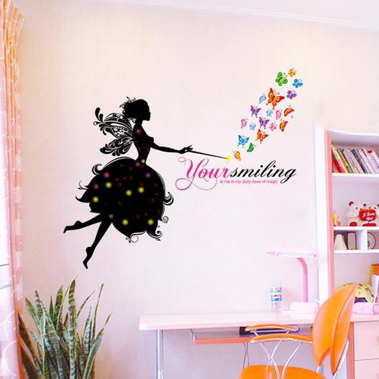 Classic Beautiful Smile Fairy Wall Stickers