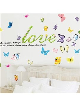 Top Quality Pretty Love Butterfly Wall Stickers