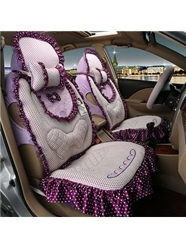 New Arrival Multicolor with Butterfly Knot Lady Car Seat Cover