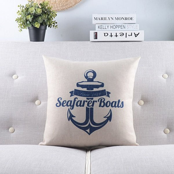 New Arrival Voyage Series--Anchor Throw Pillow