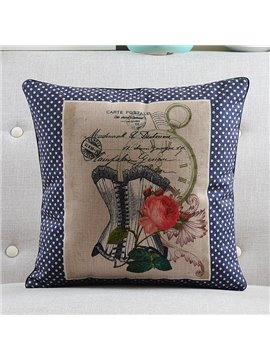 New Arrival Beautiful Flowers Stamp Style Throw Pillow