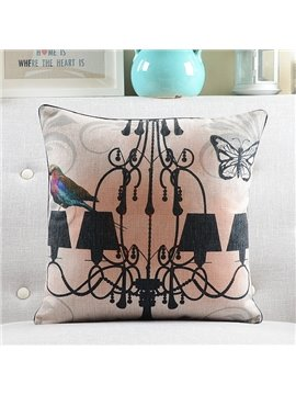 New Arrival Candle Holder and Bird Printed Throw Pillow