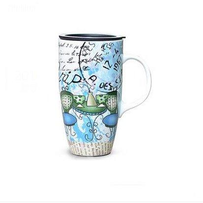 Wonderful European Painting Ceramic Creative Mug