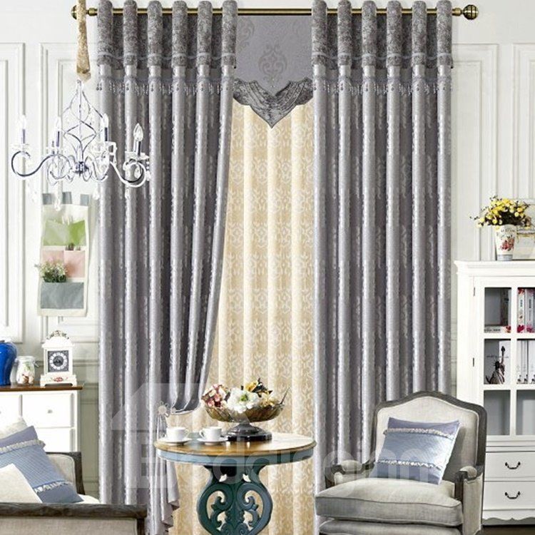 Contemporary Concise Style Duplex Printing Grommet Top Curtain 11302262