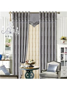 Contemporary Concise Style Duplex Printing Grommet Top Curtain