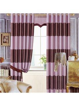 Contemporary Romantic Vibrant Purple Color Grommet Top Curtain
