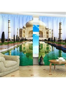 Beautiful Taj Mahal Print 3D Blackout Curtain