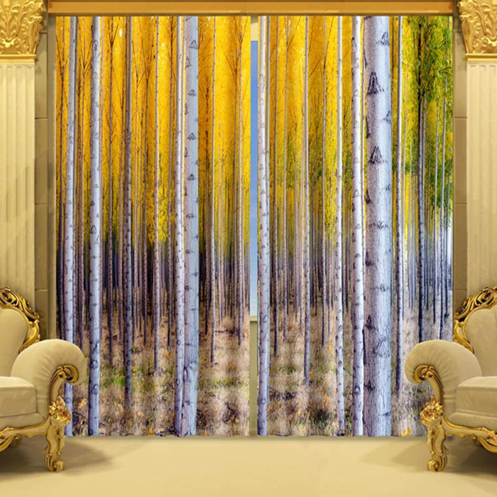 Vivid Trees Printing Living Room Amp Bedroom 3d Curtain