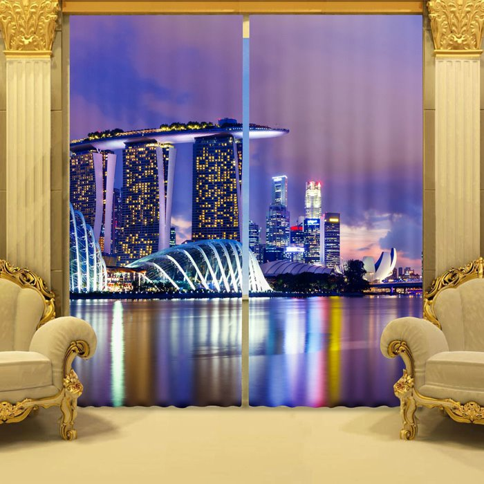 Splendid Urban Scene Printing 3d Curtain Beddinginn Com