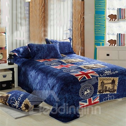 New Arrival Retro British Style Flannel Sheet