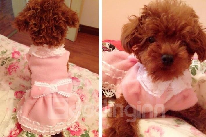 Autumn and Spring Pearl Butterfly Skirt for Dog Clothing