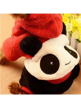 Autumn and Spring Cute Panda Suede Dog Clothing