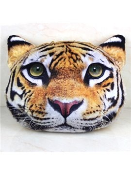 Creative 3D Style Extremely Vivid Tiger Shape Throw Pillow