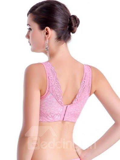 Attractive Whole Lace Wide Shoulder Cotton Interior Bra